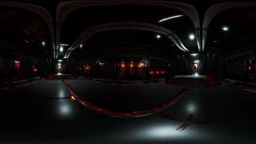 Thumbnail for VR360 Futuristic Dark Rechenzentrum mit Metall und Lichtern