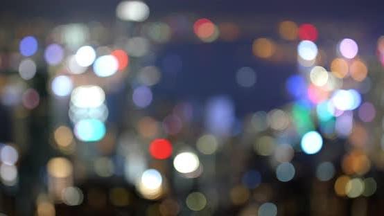 Thumbnail for Hong Kong City View from Peak at Night