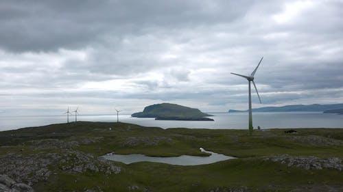 Wind turbine. Renewable energy, sustainable development, environment friendly concept. Denmark.