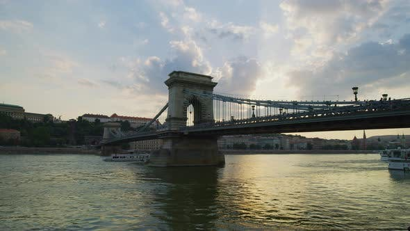 Thumbnail for Szechenyi Chain Bridge in the afternoon