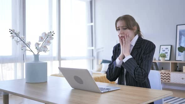 Wondering Woman in Shock at Work, Astonished