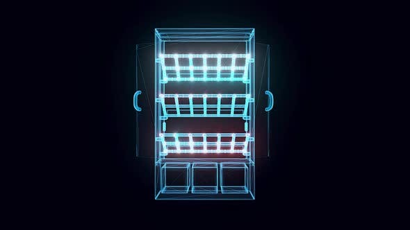 Non Refrigerated Pastrys Case Hologram Hd