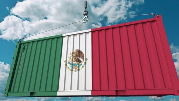 Cover Image for Container with Flag of Mexico