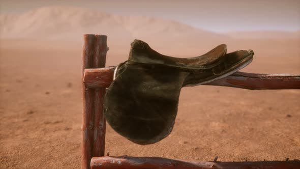 Thumbnail for Horse Saddle on the Fence in Monument Valley