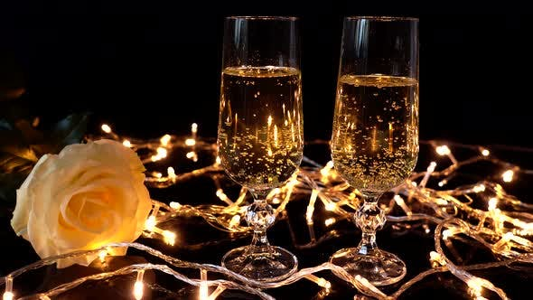 Thumbnail for Champagne is Poured in a Glass 2