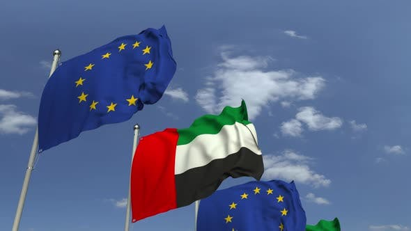 Thumbnail for Flags of UAE and the European Union