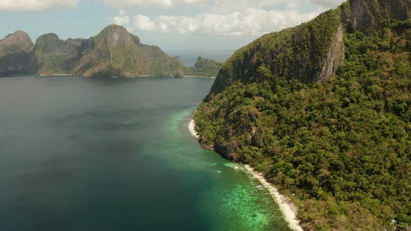 Thumbnail for Tropical Seawater Lagoon and Beach, Philippines, El Nido
