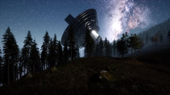 Thumbnail for Astronomical Observatory Under the Night Sky Stars