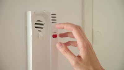 Woman Open Door with an Intercom System