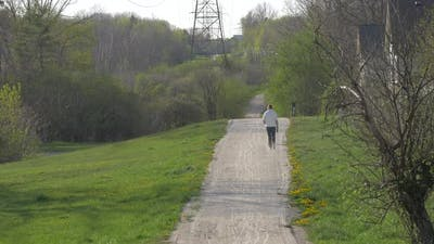Person walking on a trail