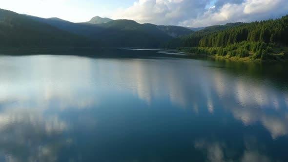Thumbnail for Evening Lake Aerial Panorama