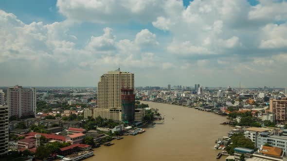 Thumbnail for Bangkok Thailand With Clouds Time Lapse