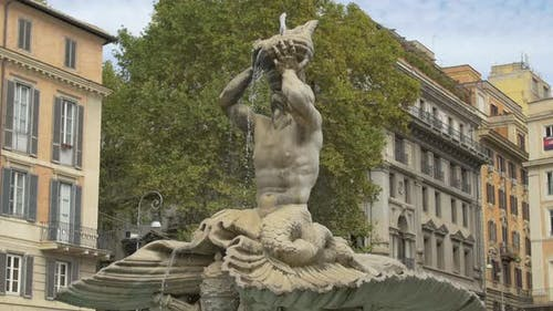 Triton Fountain in Rome