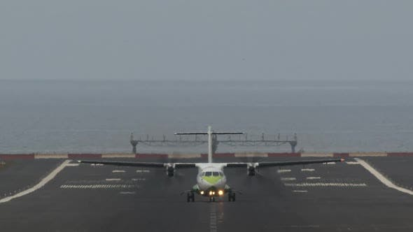 Thumbnail for Airliner Departure From Airport By the Ocean