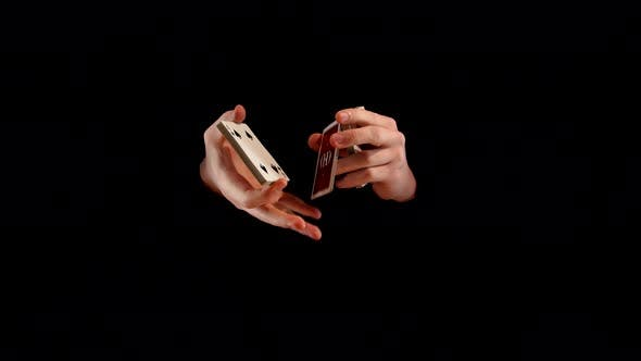 Thumbnail for Unusual Playing Card Trick on Black Background