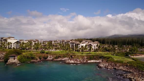the Most Famous Resort on Maui -Montage Kapalua on the Shore of Pacific Ocean,hawaii