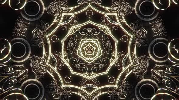 Silver Ornament Kaleidoscope