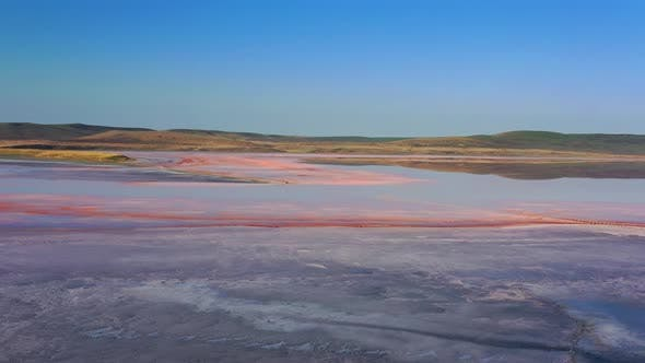 Thumbnail for Aerial View of Pink Lake in Crimea