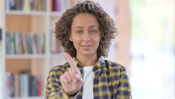 Thumbnail for Portrait of Mixed Race Woman No Sign By Finger