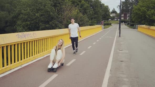 Girlfriend and Boyfriend Having Fun Together