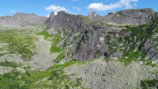 Thumbnail for Aerial Landscape in Siberian Mountains