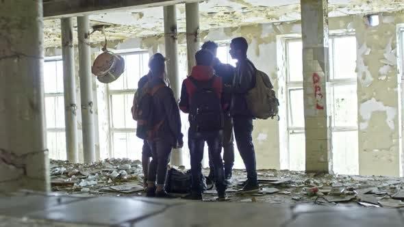 Thumbnail for Arab Men Talking in Abandoned Building