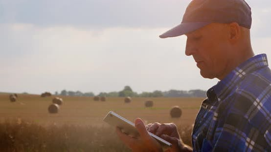 Thumbnail for Modern Farmer with Tablet