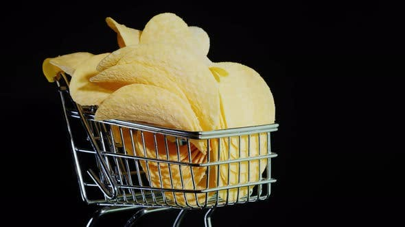 Cover Image for Chips in A Small Shopping Trolley