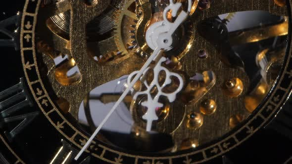 Thumbnail for Working Clock Mechanism. Close Up