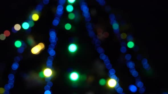 Thumbnail for Abstract Blurred Christmas Lights Bokeh Background