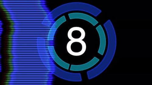 Digital film countdown in modern style