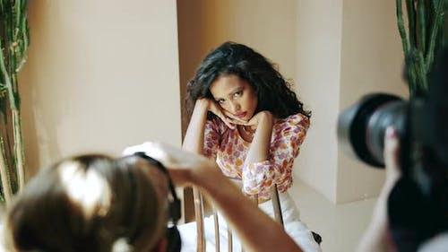 Female Model Photosession in Studio