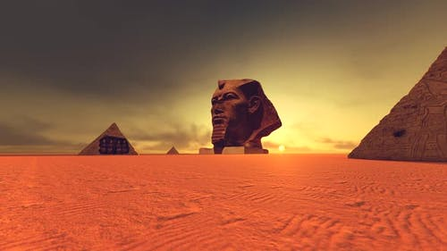 Pyramids And Sculpture