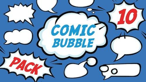 10 Stück Comic-Blase