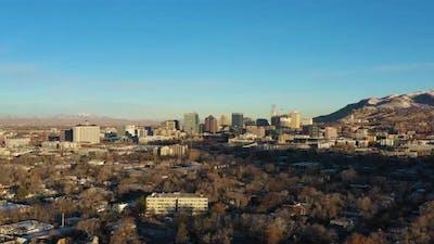 Salt Lake City on Sunny Day