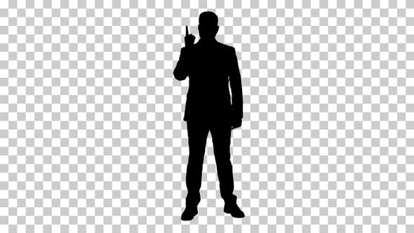 Thumbnail for Silhouette Business man, Alpha Channel