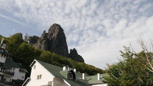 Ski resort of  Babin Zub in Eastern Serbia 4K 2160p 30fps UltraHD footage - Stara planina mountain p