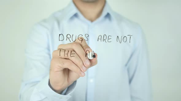 Cover Image for Drugs Are Not The Answer�, Writing On Screen