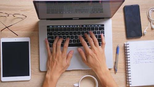 Creative Freelance Designer Working With Laptop