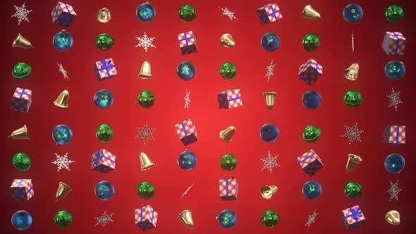 Cover Image for Christmas Decoration 3D Background 02