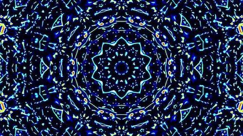 Bright abstract light flickering streaks set full color, kaleidoscope