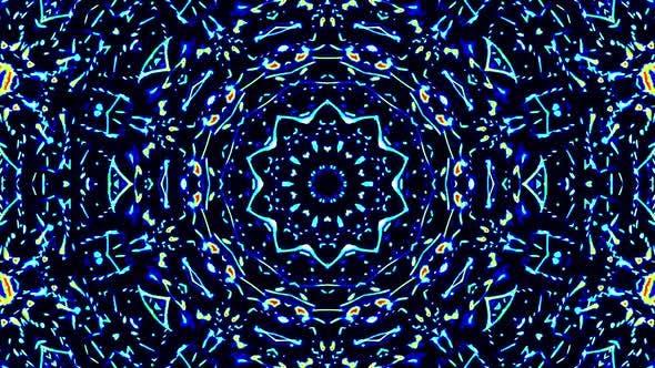 Helles abstraktes Licht flackernde Streifen in voller Farbe, Kaleidoskop