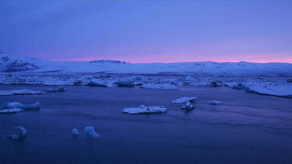 Thumbnail for A Beautiful Scenery of a Glacier in Iceland