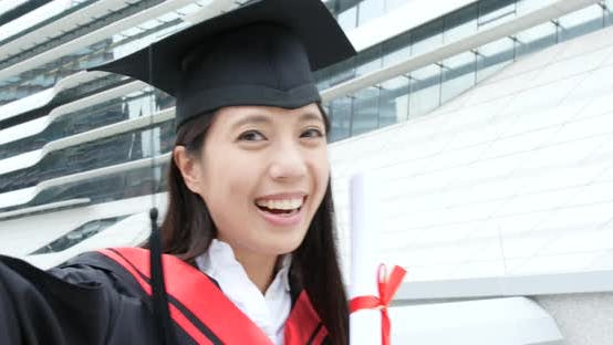 Thumbnail for Happy cheerful woman get graduation