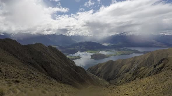 Timelapse magnificent view of valley