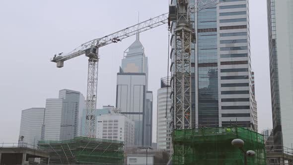 Thumbnail for Construction in the Center of Hong Kong
