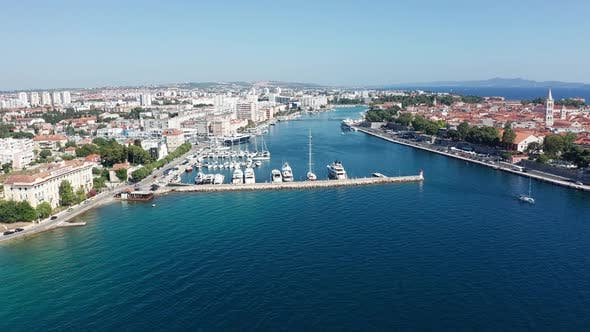 Thumbnail for Drone Footage Aerial View of Zadar Marina Croatia
