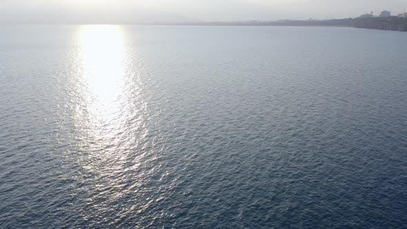 Aerial Panoramic View of Beautiful Mediterranean Seascape