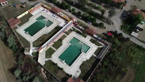Thumbnail for People Swimming Pool Aerial View