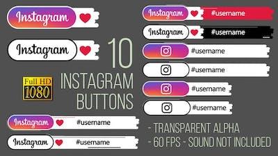 Instagram Buttons FullHD
